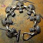 032. Pirate Cross Bones Bracelet.JPG