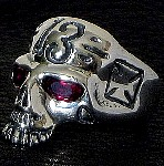 115R. Lucky 13 Skull Ring (side).jpg