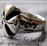 13b. Club Cross Silver Ring With Lucky 13.jpg