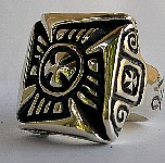 18a. Huge Bikers Cross Silver Ring.jpg