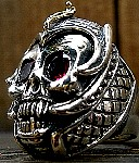 35B. Skull Ring With Gold Cobra (side).jpg